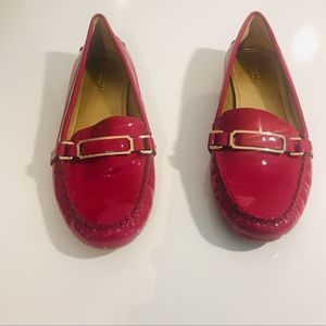 Coach Flynn Women Pink Patent Leather Loafers 8